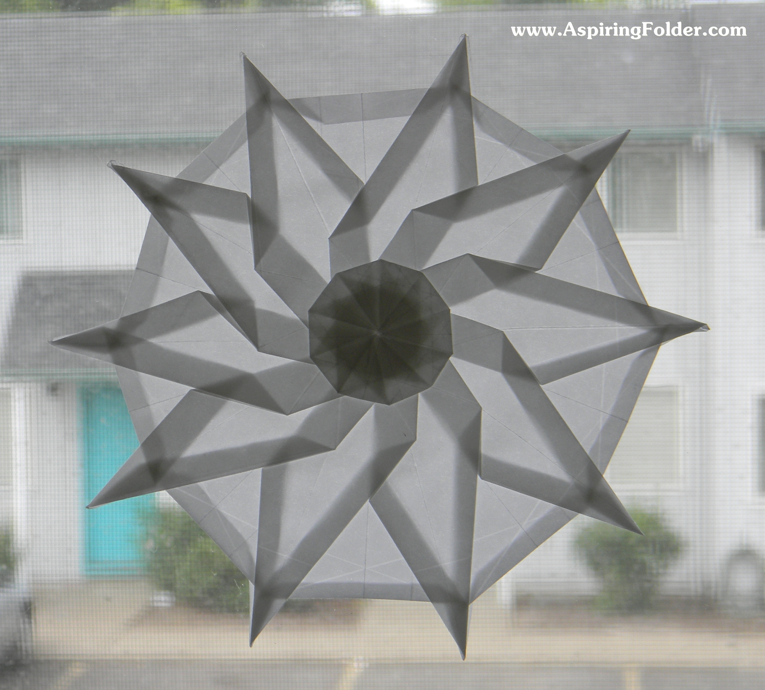 how to make a 10 pointed ninja star