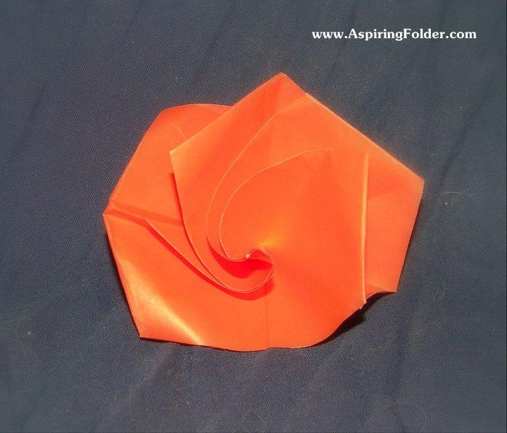 Simple Origami Rose Aspiring Folder