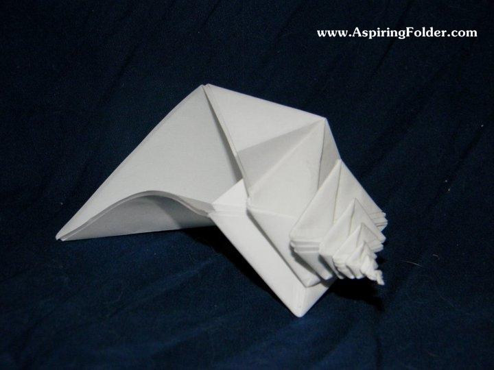 Origami Spiral Snail Shell (Toshikazu Kawasaki) - YouTube | 540x720
