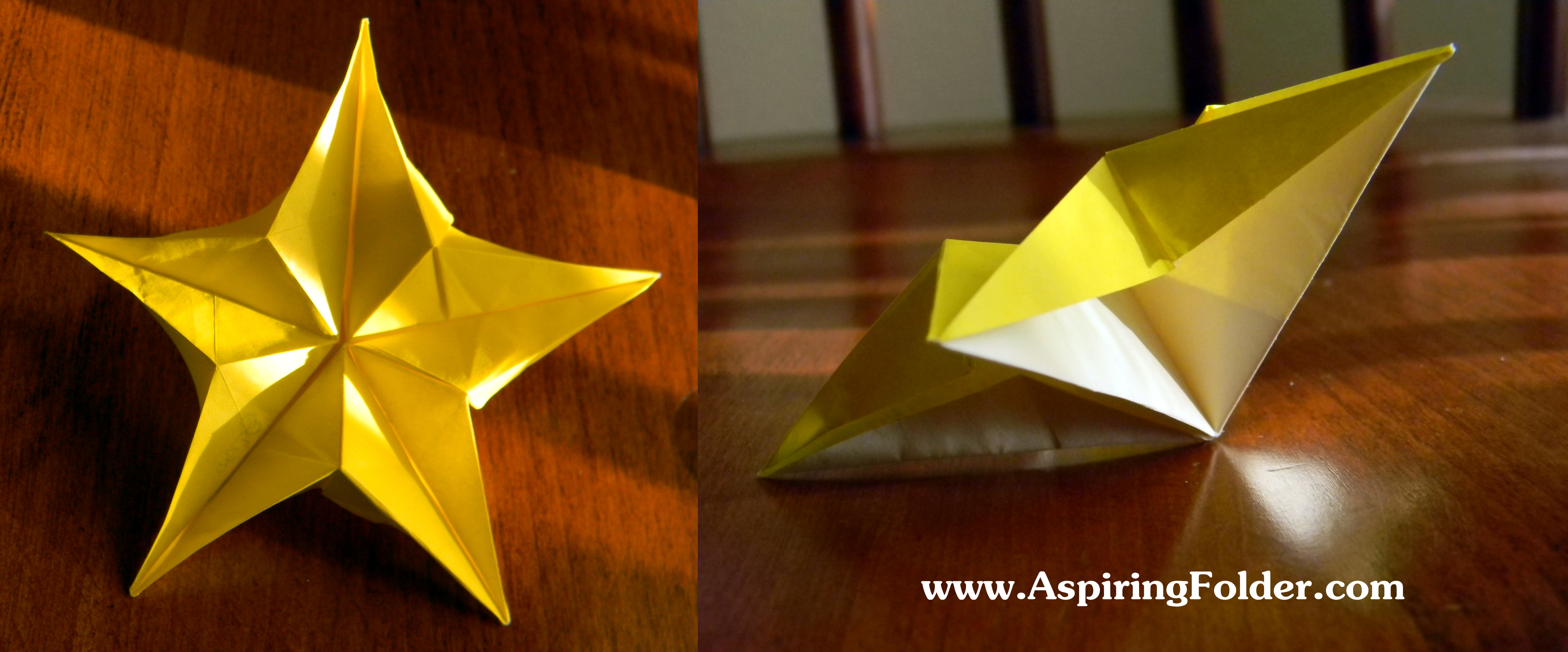 Origami christmas star - YouTube | 2453x5894