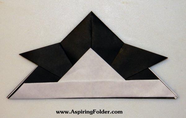how to make origami samurai hats