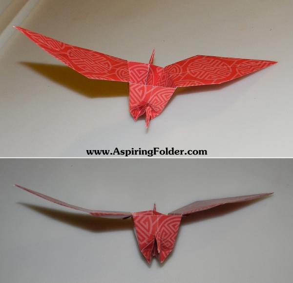 origami box and crane