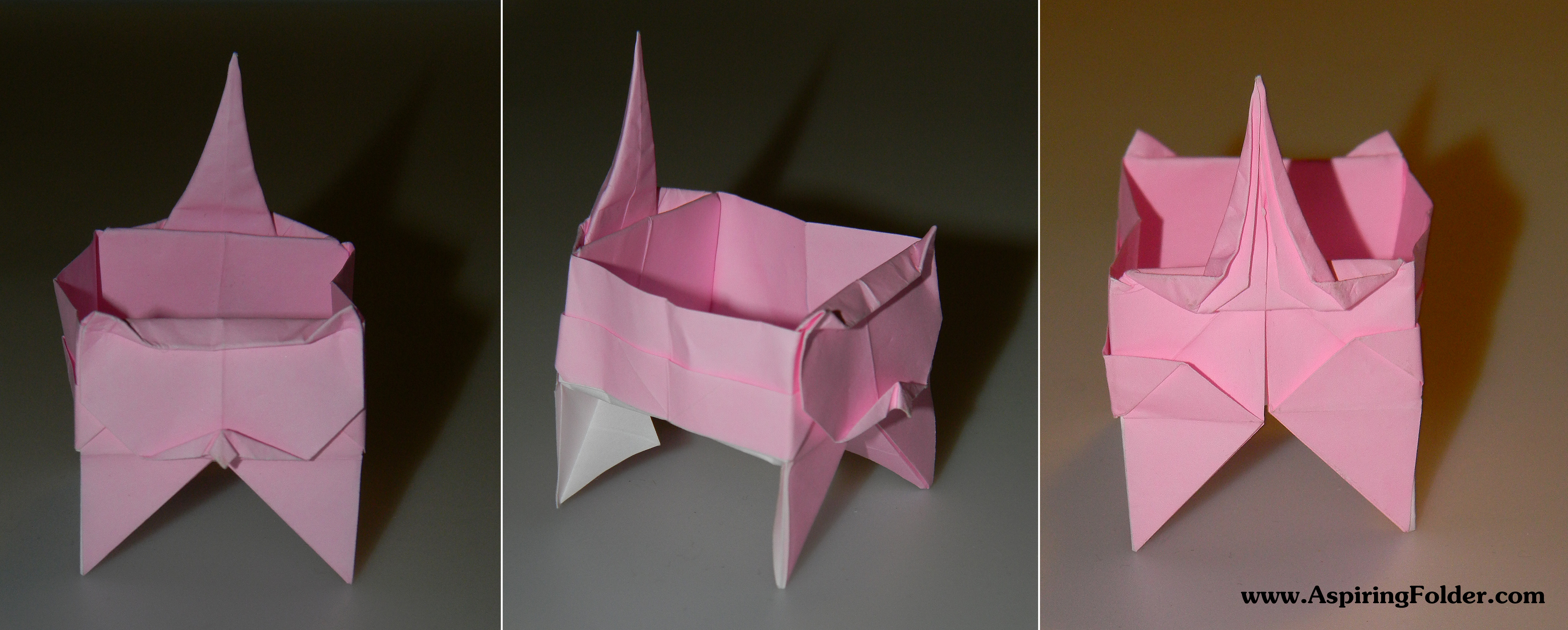Origami Cat And Box
