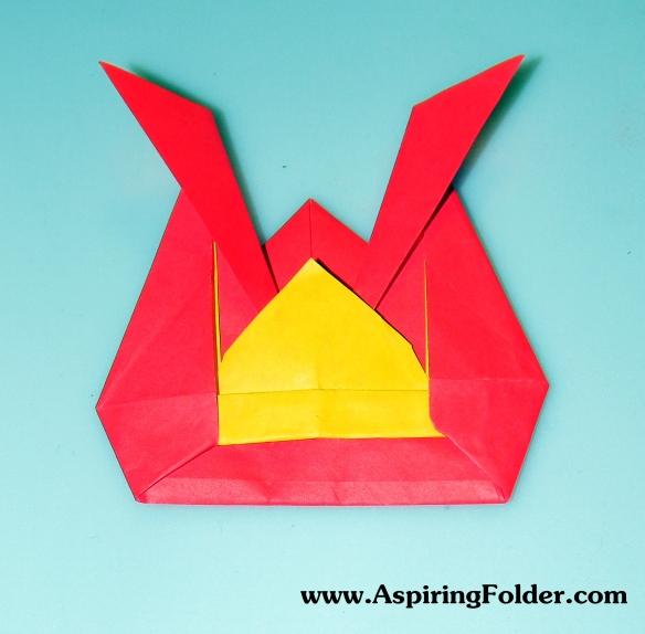 Samurai Hat | Newspaper origami | 575x584