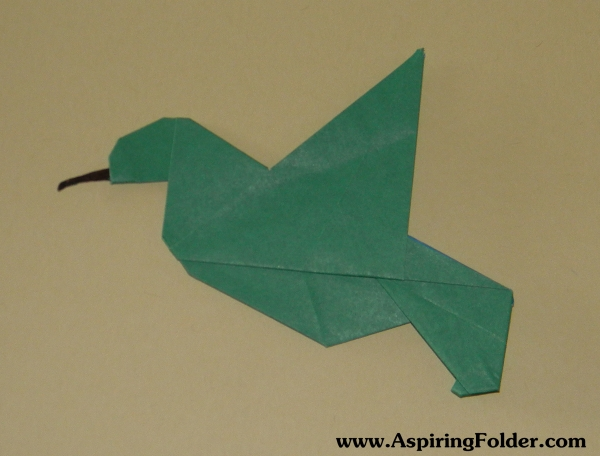 Origami Hummingbird | Aspiring Folder - photo#23