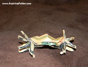 Dollar Origami Crab