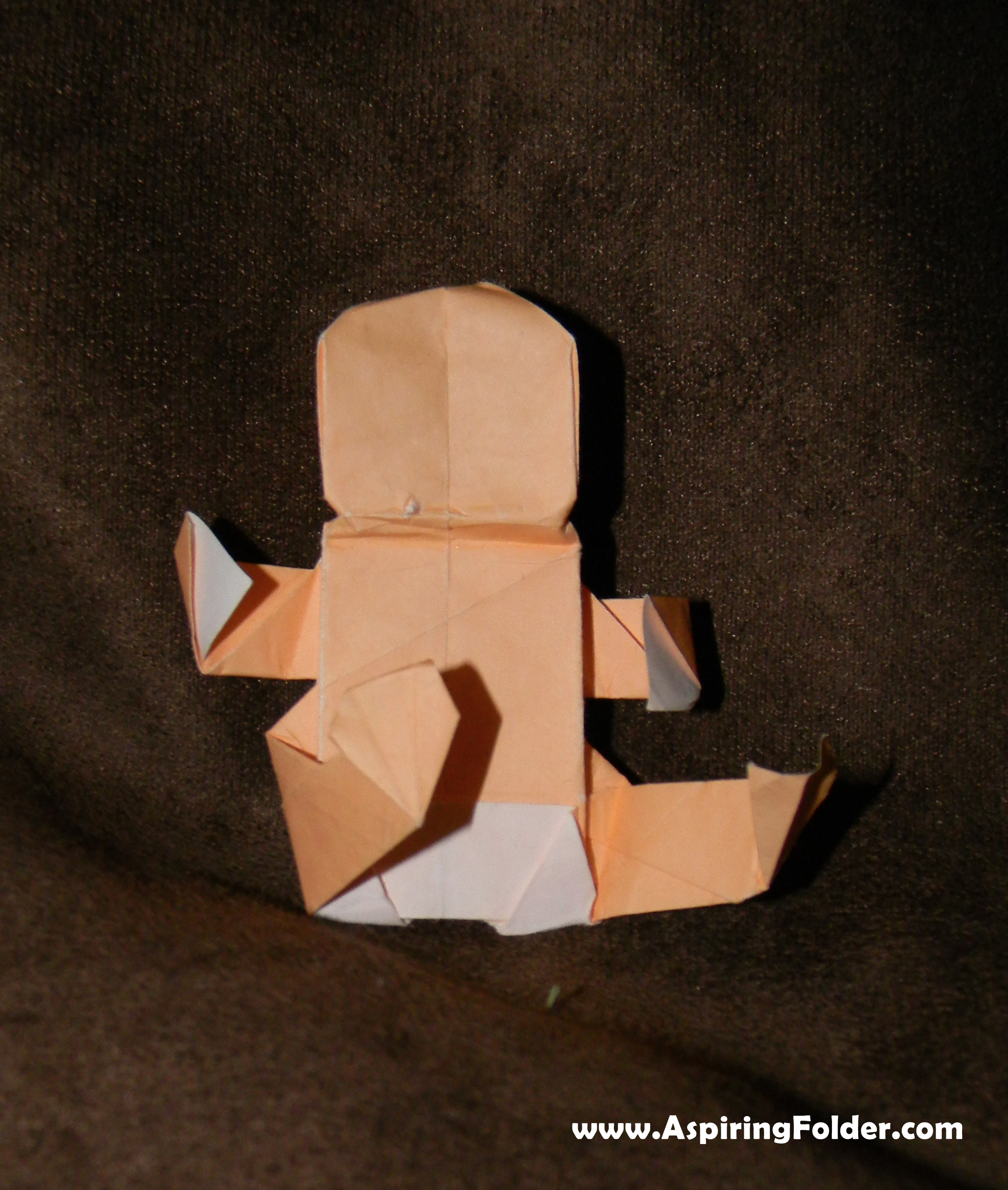 Aspiring folder an origami blog page 7 robert j lang designed this origami baby model and you can find the diagram in his book origami design secrets mathematical methods for an ancient art jeuxipadfo Image collections