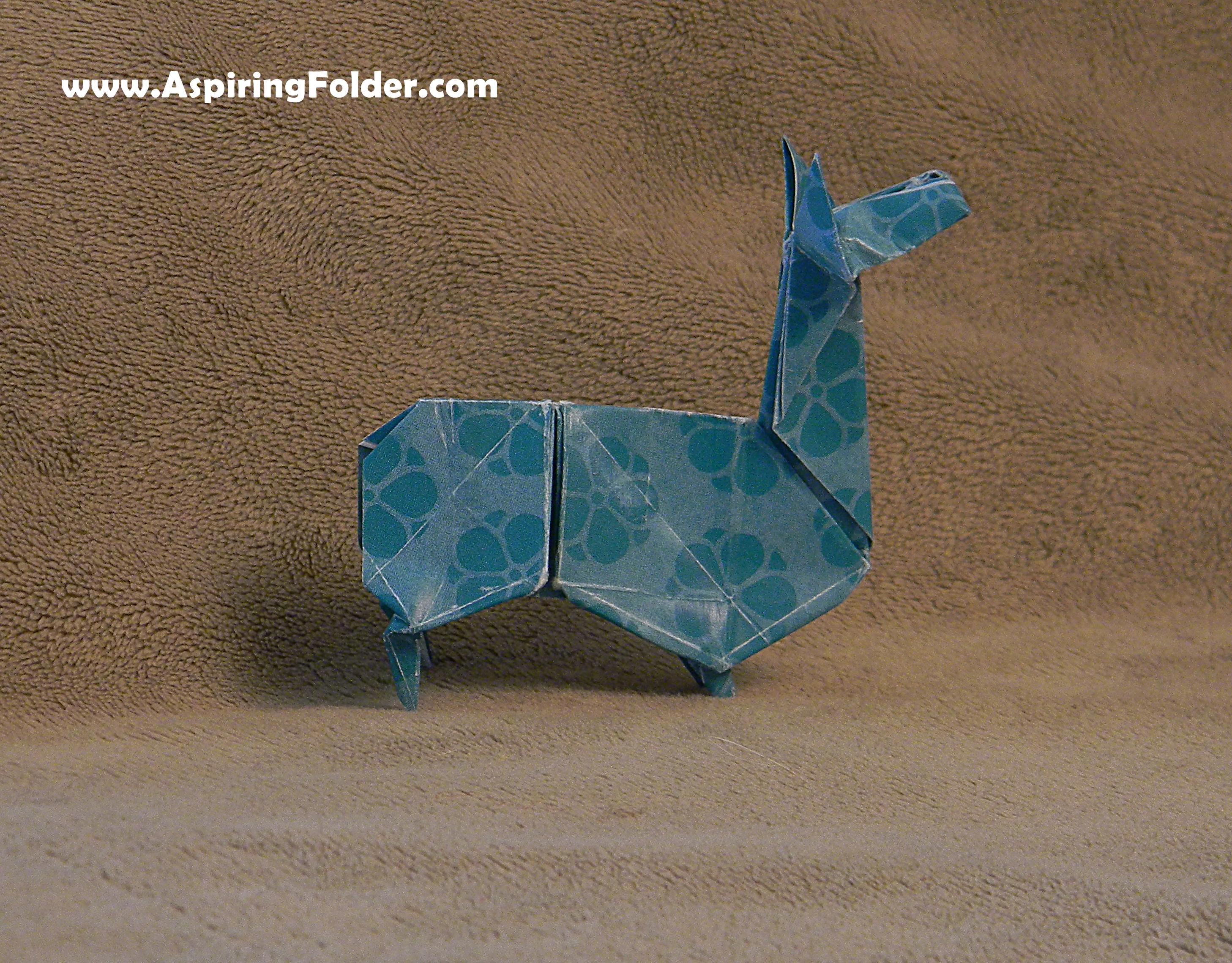 Origami Llama Aspiring Folder