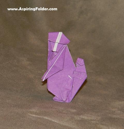 origami baboon